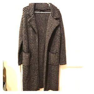 Zara grey marbled long cardigan
